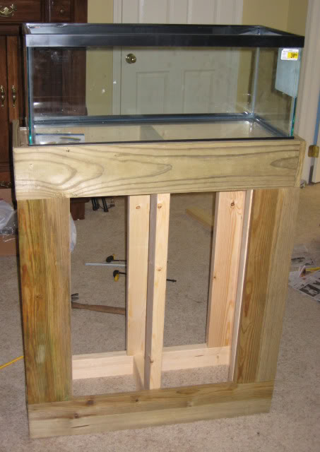 Diy Stand For 20g Long With Pics Aquarium Advice 20 Gallon
