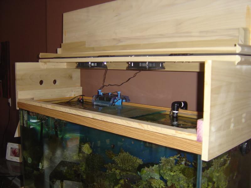 Diy canopy and stand refinish aquarium advice aquarium for Fish tank hood