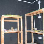 DIY shelving, based on original (Mk1) fish tank stand. This is the current view, I am building this room now. 01/11/2013.